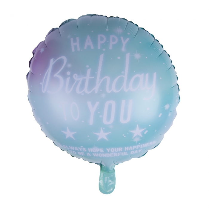 BALON FOLIE HAPPY BIRTHDAY VERNIL 45 CM