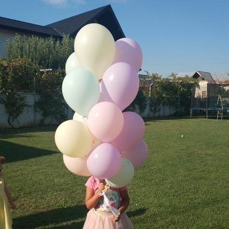 Set 100 buc balon latex pastel 30cm
