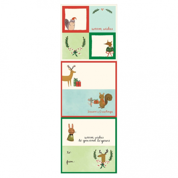 Holiday Forest Friends Label