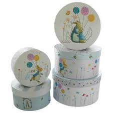 Beatrix Potter Round Storage Box --Set of 5