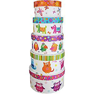 Portobello Owls 5 Round Storage Box Set