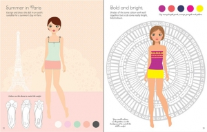 Sticker Dolly Dressing - Fashion designer summer collection