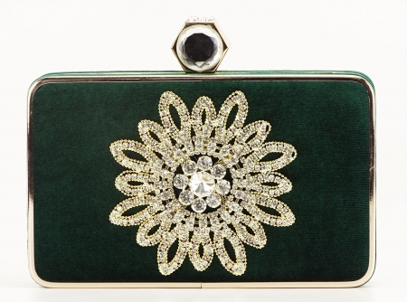 GEANTA CLUTCH VERDE SMARALD BEAUTY