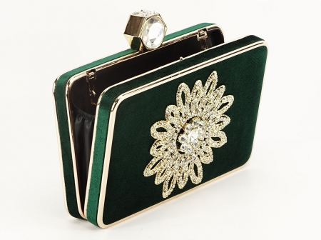 GEANTA CLUTCH VERDE-SMARALD BEAUTY