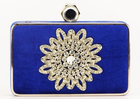 GEANTA CLUTCH ALBASTRA BEAUTY