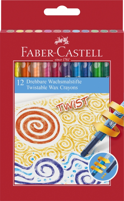 Creioane Cerate Retractabile 12 Culori Faber-Castell