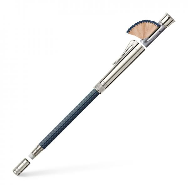 CREION PERFECT PENCIL PLATINA GUILLOCHE NIGHTBLUE Graf Von Faber Castell