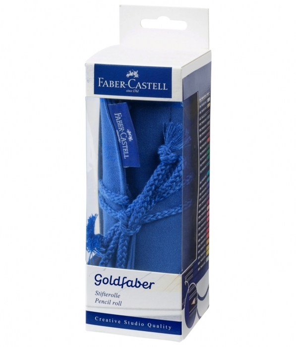 Rollup 27 Creioane Colorate Goldfaber+Accesorii Faber-Castell