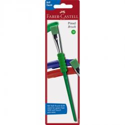 Pensula Soft Touch nr.12, verde, varf tesit Faber-Castell
