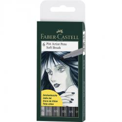 Pitt Artist Pen Soft Brush Set 6 Buc Faber-Castell
