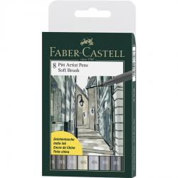 Pitt Artist Pen Soft Brush Set 8 Buc Faber-Castell