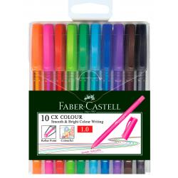 Set 10 culori Roller 1mm Semi-Gel CX Colour Faber-Castell