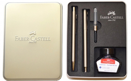Set Stilou + Pix Neo Slim Metal SS Matt Faber-Castell