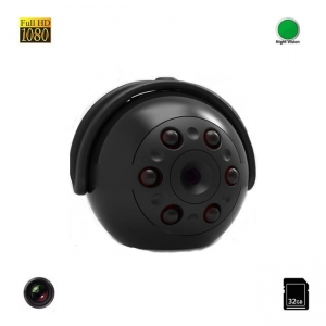 Micro Camera Video Spion 32GB  , Nightvision, FULL HD 1080P, Unghi de 360°,  Senzor de Miscare