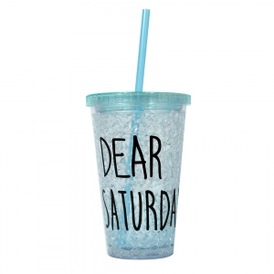 Pahar De Vara Cu Pai Dear Saturday #2 450 ML – Mentine Bautura Rece