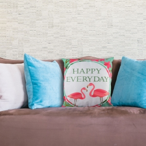 Perna Decorativa Flamingo Happy Everyday 45X45 CM