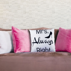 Perna Decorativa Mrs. Always Right 45X45 CM