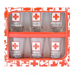 Set 6 Pahare Shot-uri Medicament 35 ML