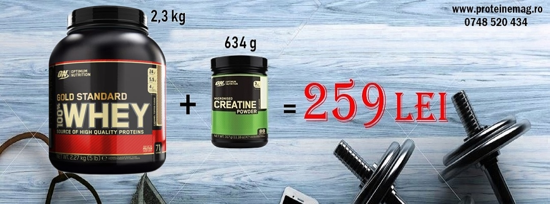 ON Whey gold 2,3kg + ON Creatine 634 gr