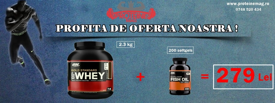 ON Whey Gold 2,3 kg + ON Fish Oil 200 softgels