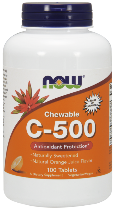 Now Chewable Vit C500 100 tab