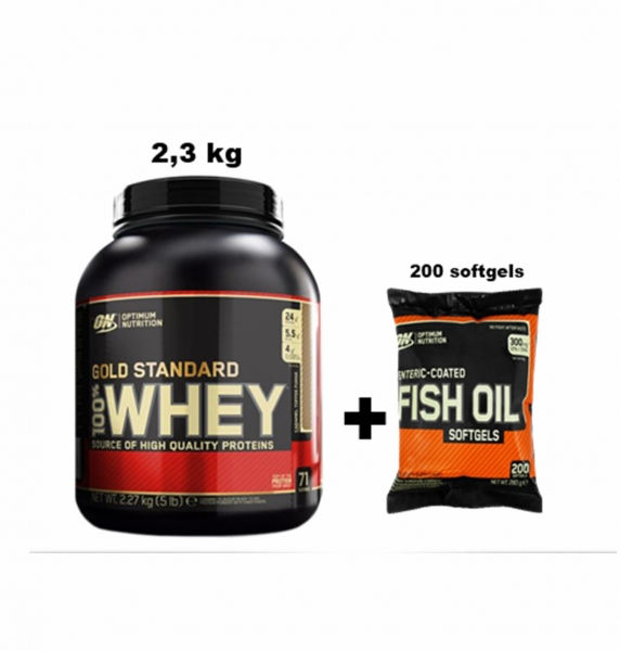 On Whey Gold Standard 2,3 kg + On Fish Oil 200 softgels
