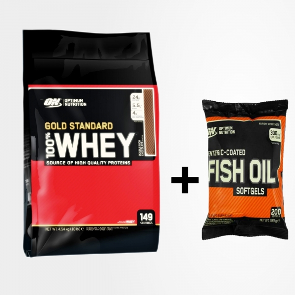 ON Whey Gold Standard 4.5 kg + ON Fish Oil 200 softgel