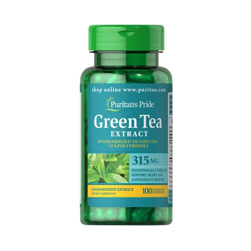 Puritan`s Pride Green Tea Standardized Extract 315 mg 100 cps