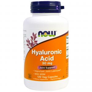 Now Hyaluronic Acid 50 mg with Msm 120 vcaps