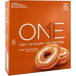 Oh Yeah! One Bar, Maple Glazed Doughnut, 12 Bars (60g)