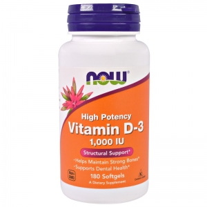 Now Vit D3 1000 IU 180 softgels