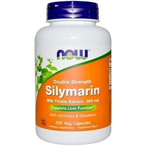 Now Silymarin with Artichoke & Dandelion 300 mg 50 vcaps