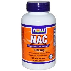 Now NAC 600 mg N-Acetyl Cysteine 100 vcaps