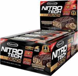 Muscletech Nitro Tech Crunch Bars 12 bc
