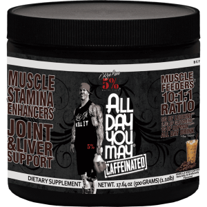 Rich Piana 5% All Day You May Caffeinated 25 serv
