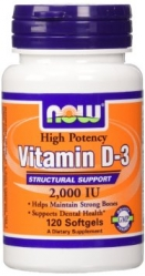 NOW Vit D3 2000IU 120 softgels