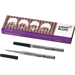 Ballpoint Pen Refills Purple M Beatles  (2 buc/ set)