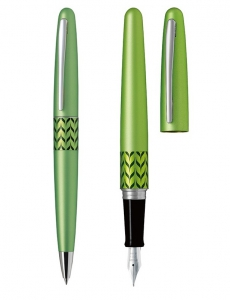 SET STILOU+PIX PILOT MR 3 RETRO POP METALIC LIGHT GREEN