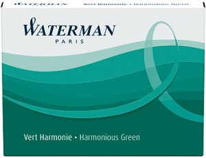 Cartuse Cerneala Waterman Harm Green set 8 buc