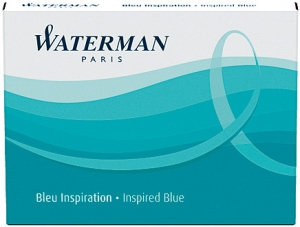 Cartuse Cerneala Waterman Inspired Blue set 8 buc