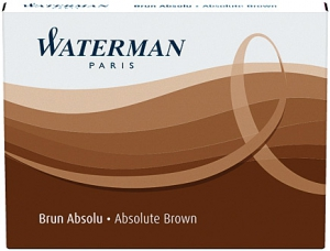 Cartuse Cerneala Waterman Absolute Brown set 8 buc