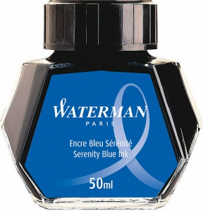 Calimara Cerneala Waterman Serenity Blue 50 ml lavabil
