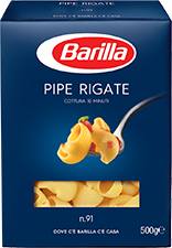 Paste BARILLA Pipe Rigate n.91 500g