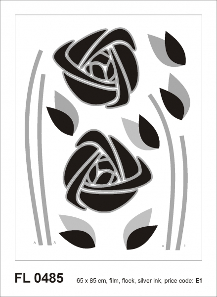 Sticker decorativ FL0485 Trandafiri abstracti