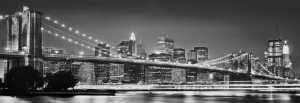 Fototapet XXL2-320 Brooklyn Bridge alb negru
