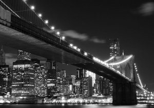 Fototapet FTS 1305 Brooklyn Bridge noaptea