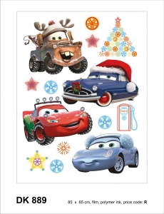 Sticker decorativ DK889 Cars de Craciun
