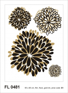 Sticker decorativ FL0481 Flori abstracte