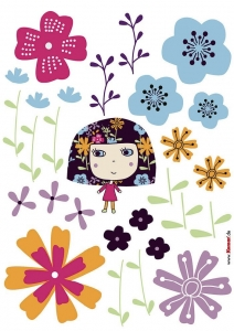 Sticker decorativ 17002 Flowerine