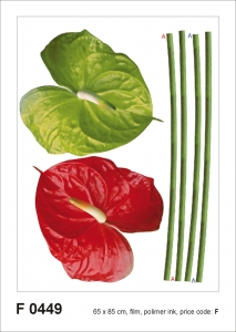 Sticker decorativ F0449 Anthurium